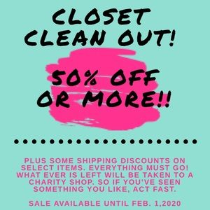 Closet Clean out Sale